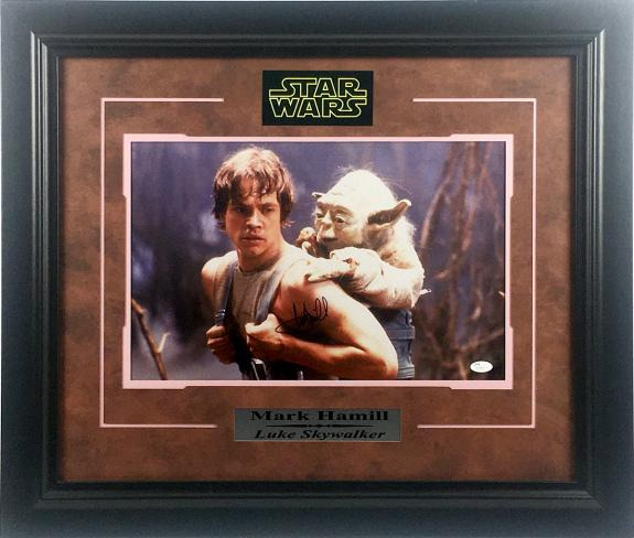 Mark Hamill Autographed 'Star Wars' Photo Framed