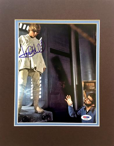 Mark Hamill Autographed 'Star Wars' with George Lucas 8x10 Photo
