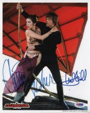 MARK HAMILL & CARRIE FISHER SIGNED 8x10 STAR WARS PHOTO PSA/DNA #L79492