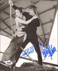 MARK HAMILL & CARRIE FISHER Signed STAR WARS 8x10 Photo PSA/DNA #AB96003