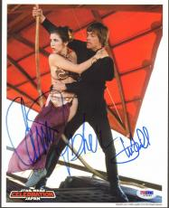 MARK HAMILL & CARRIE FISHER Signed STAR WARS 8x10 Photo PSA/DNA #L79494