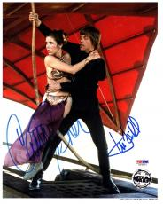 MARK HAMILL & CARRIE FISHER Signed STAR WARS 8x10 Photo PSA/DNA #U26671