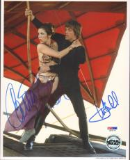 MARK HAMILL & CARRIE FISHER Signed STAR WARS 8x10 Photo PSA/DNA #U26676