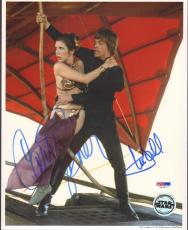 MARK HAMILL & CARRIE FISHER Signed STAR WARS 8x10 Photo PSA/DNA #U26677
