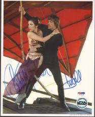 MARK HAMILL & CARRIE FISHER Signed STAR WARS 8x10 Photo PSA/DNA #U26678