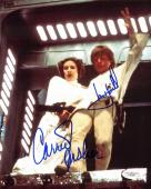 Mark Hamill & Carrie Fisher Star Wars Signed 8x10 Photo JSA #E46445