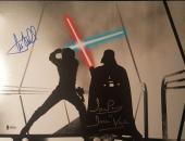 Mark Hamill David Prowse Star Wars Return of the Jedi Signed 11x14 Photo BAS COA