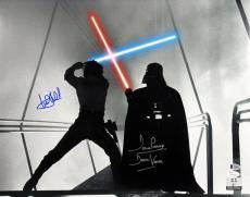 Mark Hamill & David Prowse Star Wars Signed 16X20 Photo BAS