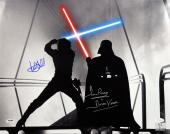Mark Hamill & David Prowse Star Wars Signed 16x20 Photo PSA JSA Holo