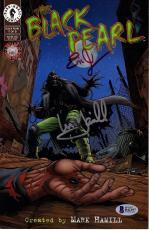 "MARK HAMILL & ERIC JOHNSON Signed ""Black Pearl"" Comic Book BECKETT BAS #B42197"