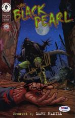 "MARK HAMILL & ERIC JOHNSON Signed ""Black Pearl"" Comic Book PSA/DNA # AC32578"