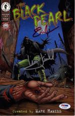 "MARK HAMILL & ERIC JOHNSON Signed ""Black Pearl"" Comic Book PSA/DNA # AC32579"