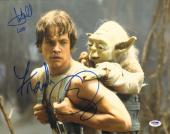 MARK HAMILL & FRANK OZ Signed Autographed STAR WARS 11x14 Photo PSA/DNA #Z62731