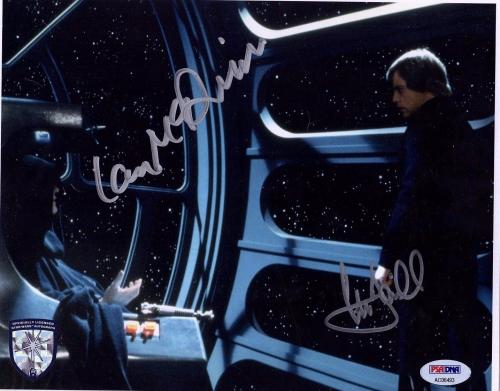 MARK HAMILL & IAN McDIARMID Signed STAR WARS 8x10 Photo PSA/DNA #AC06493