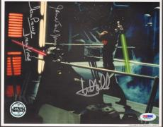 MARK HAMILL, JAMES EARL JONES & DAVE PROWSE Signed STAR WARS 8x10 Photo PSA/DNA