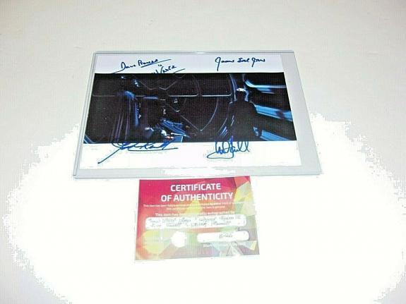 Mark Hamill James Earl Jones David Prowse +1 Star Wars W/coa Signed Photo