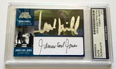 Mark Hamill & James Earl Jones STAR WARS DUAL Signed Custom CARD 1/1 PSA/DNA