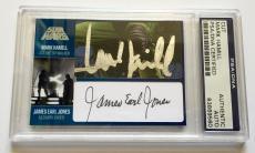 Mark Hamill & James Earl Jones STAR WARS DUAL Signed Custom CARD 1/1 PSA/DNA