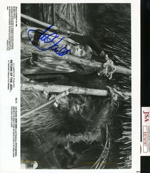 MARK HAMILL JSA Coa Hand Signed 8x10 Star Wars Return Jedi Photo Autograph