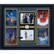 "Mark Hamill & Kenny Baker Star Wars Framed Autographed 35"" x 40"" Collage - BAS"