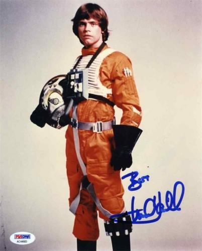 Mark Hamill Luke Star Wars Jedi Autographed Signed 8x10 Photo PSA/DNA COA