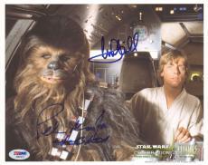 MARK HAMILL & PETER MAYHEW Signed STAR WARS 8x10 Photo PSA/DNA #AB07012