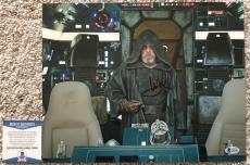 Mark Hamill Signed 11x14 Luke Skywalker Star Wars The Last Jedi BAS Beckett