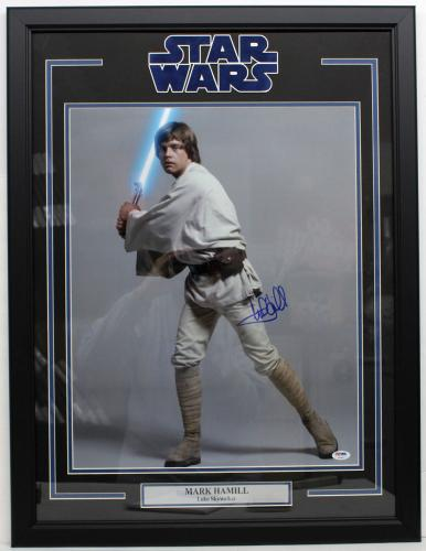 Mark Hamill Signed Autographed 16x20 Photo Framed Star Wars Luke Psa/dna Y93467