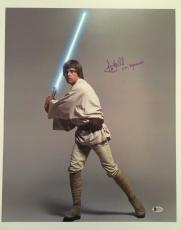 Mark Hamill Signed Autographed 16x20 Photo Star Wars Luke Skywalker BECKETT COA1