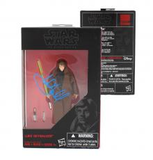 Mark Hamill Signed Hasbro Star Wars The Black Series Luke Skywalker Figure (Black Outfit) with Proof Picture