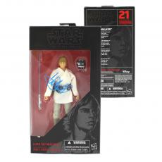 Mark Hamill Signed Hasbro Star Wars The Black Series Luke Skywalker Figure (White Outfit) with Proof Picture