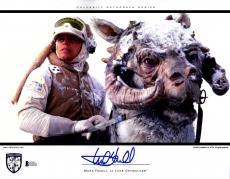 "MARK HAMILL Signed ""Luke Skywalker"" STAR WARS 11x14 Photo BECKETT BAS #D39211"