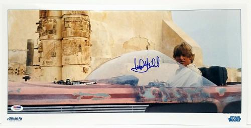 "MARK HAMILL Signed ""Luke Skywalker"" STAR WARS OFFICIAL PIX 10X20 Photo PSA/DNA"