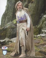 "MARK HAMILL Signed ""Luke"" STAR WARS The Last Jedi 8x10 Photo PSA/DNA #AD68505"