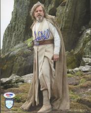 "MARK HAMILL Signed ""Luke"" STAR WARS The Last Jedi 8x10 Photo PSA/DNA #AD68506"