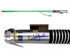 Mark Hamill Signed Star Wars Green Force FX Luke Skywalker Jedi Lightsaber