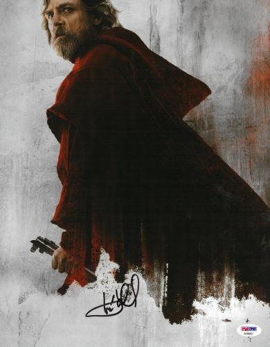 Mark Hamill Signed Star Wars Last Jedi Autographed 11x14 Photo PSA/DNA #AD68667