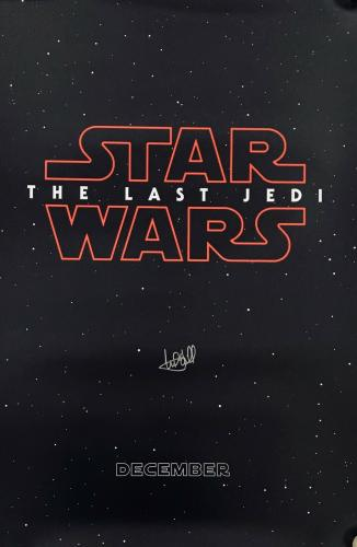 Mark Hamill signed the Last Jedi Star Wars poster new movie with Beckett Coa
