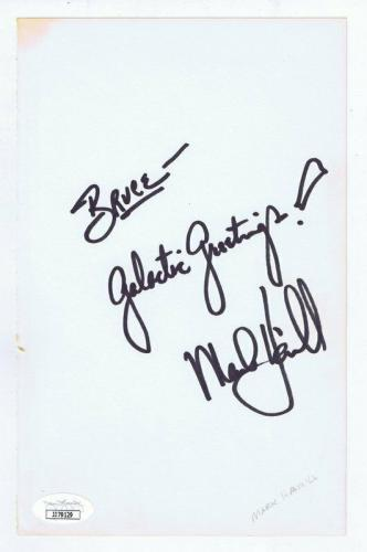 Mark Hamill Signed Vintage Album Page JSA COA Galactic Greetings Inscr Star Wars