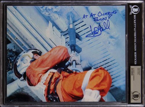 Mark Hamill Star Wars At At Climbing Sucks! Signed 8x10 Photo BAS Slab