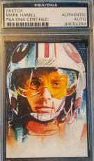Mark Hamill Star Wars Return of the Jedi Signed Sketch Card AUTOGRAPHED PSA/DNA