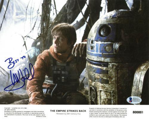 Mark Hamill Star Wars  Signed 8x10 Lobby Card Photo BAS #E85421
