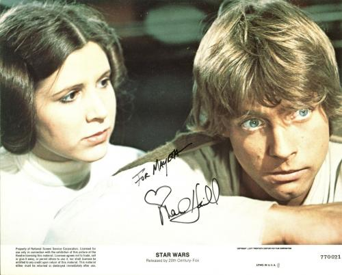 Mark Hamill Star Wars Signed 8X10 Photo Autographed BAS #B38853