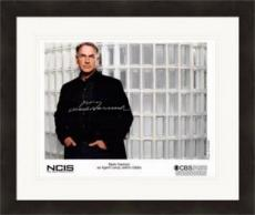 Mark Harmon autographed 8x10 photo (NCIS, Agent Leroy Jethro Gibbs) #SC3 Matted & Framed