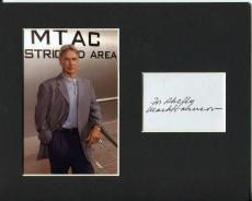 Mark Harmon NCIS: Naval Criminal Investigative Se Signed Autograph Photo Display