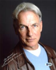 Mark Harmon NCIS Signed 8x10 Photo Autographed BAS #B93929