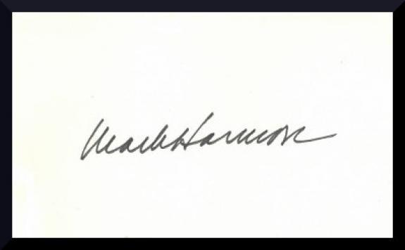 Mark Harmon signed 3x5 Index Card- JSA Hologram #CC09193 (NCIS/West Wing)