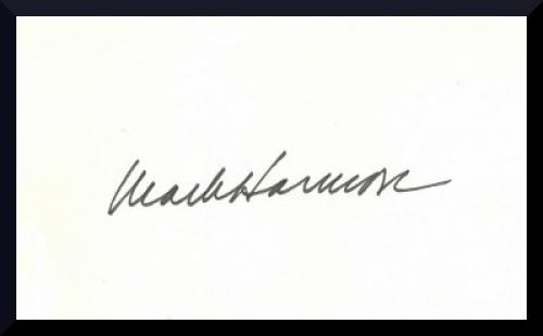Mark Harmon signed 3x5 Index Card- PSA/JSA/BAS Guaranteed To Pass (NCIS/West Wing)