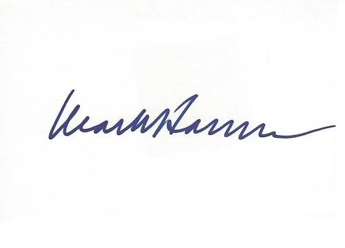 """MARK HARMON - TV and MOVIE ACTOR - Best Known as NCIS SPECIAL AGENT as LEROY JETHRO GIBBS in the CBS Series """"NCIS"""" Signed 6x4 Index Card"""
