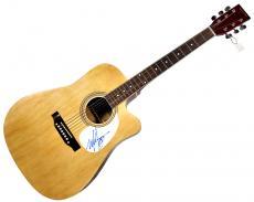 Mark Hoppus Blink 182 Autographed Signed Acoustic Guitar AFTAL UACC RD